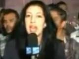 实拍法国女记者开罗连线直播遭30多人袭胸