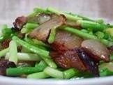 美女私房菜 20120916 蒜苗炒腊肉